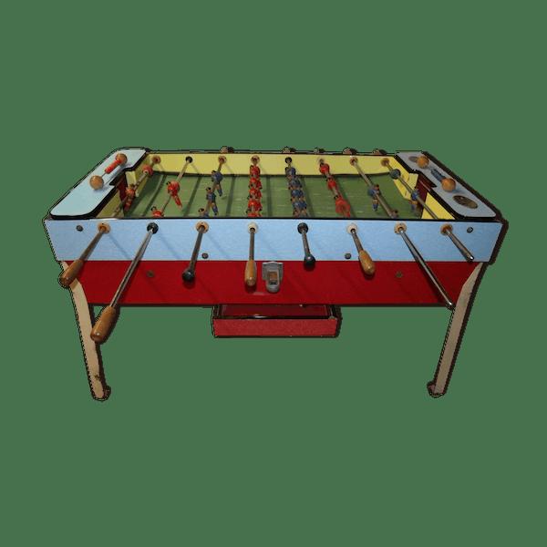ancien baby foot de caf vintage en formica des ann es 50 60 bistrot bois mat riau. Black Bedroom Furniture Sets. Home Design Ideas