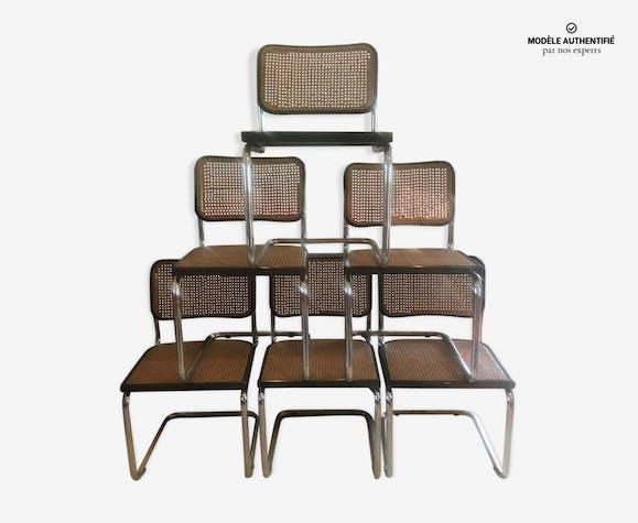 Lot de 6 chaises B32 par Marcel Breuer