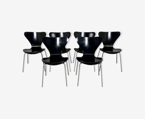 Lot de 6 chaises Butterfly par Arne Jacobsen pour Fritz Hansen, 1970