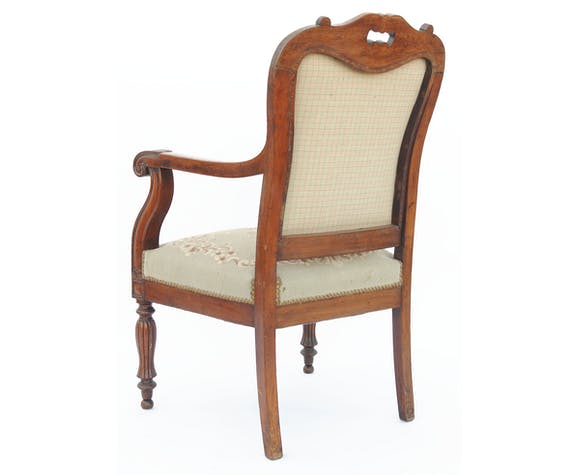 Louis Philippe period armchair in mahogany