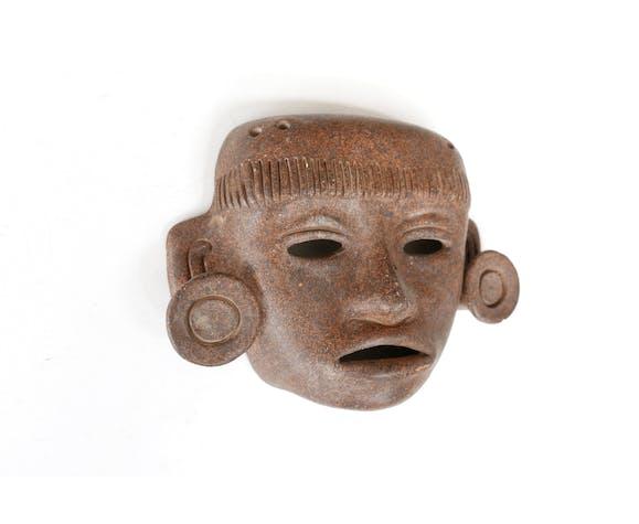 Masque ethnique en céramique, années 70