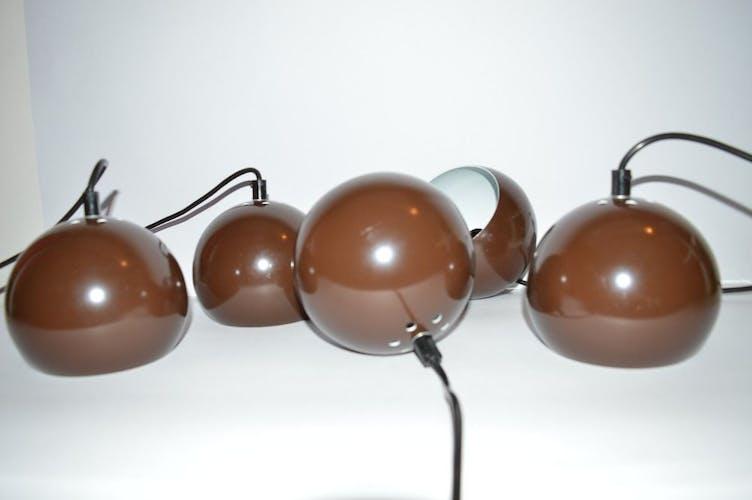 Brown bubble suspensions E.S.Horn Denmark 1970 s
