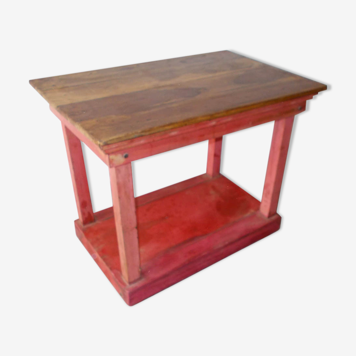 Table teak console display