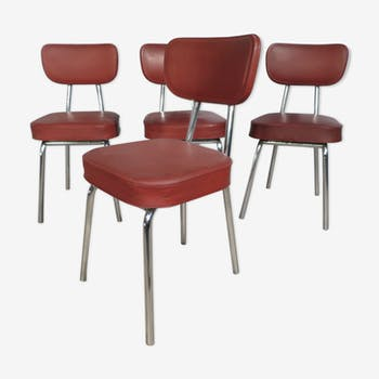 set of 4 industrial chairs year 50