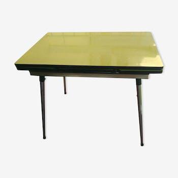 Table de cuisine en formica années 60