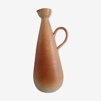 Pichet conique vintage en céramique avec anse
