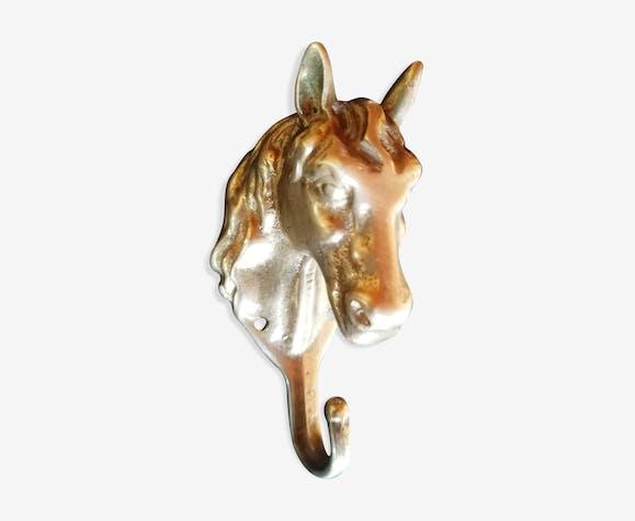 Patère brass horse head