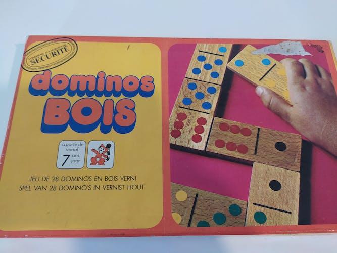 Ancien jeu de domino en bois