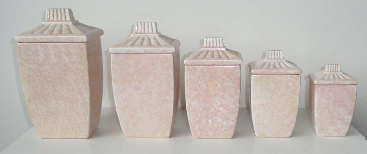 St. Clement's art deco earthenware spice pots