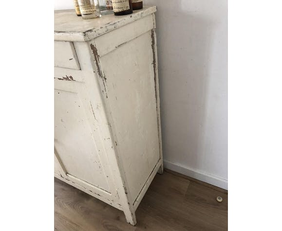 Vintage white wood buffet