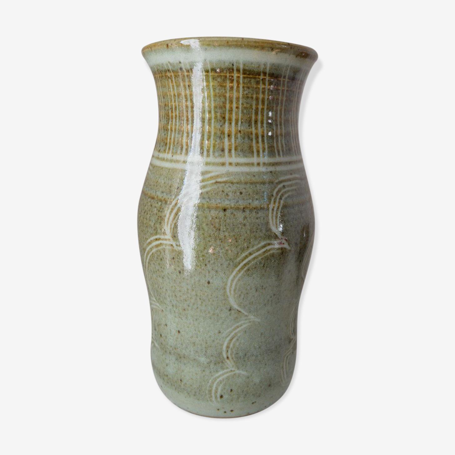 Vase en grès signé Benoît Dangon