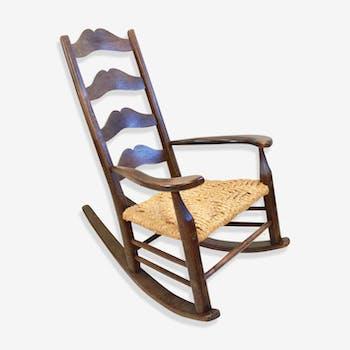 Brutalist rocking chair