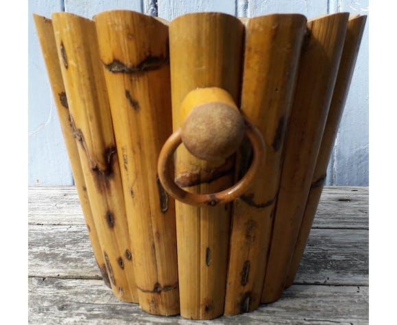 Cache pot en bambou rotin