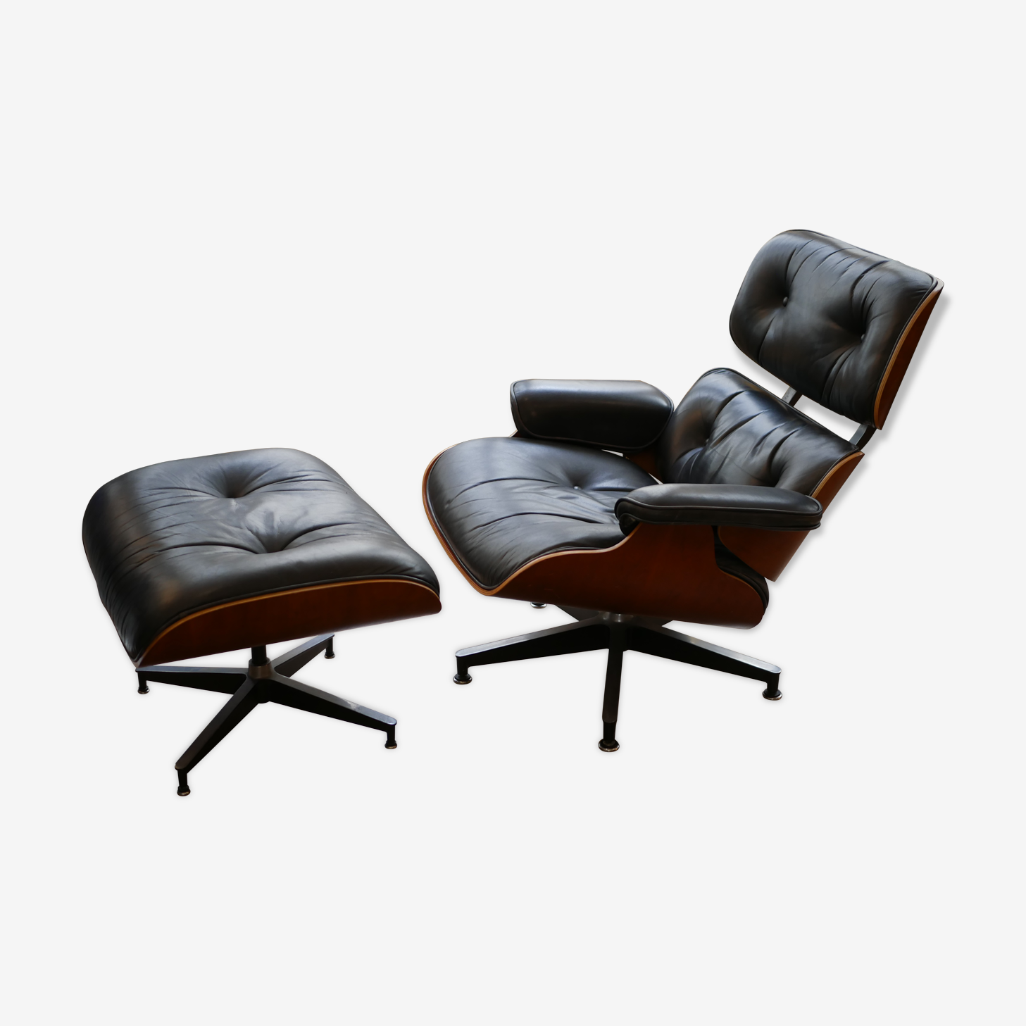 Lounge chair et ottoman par Charles & Ray Eames édition US Herman Miller 1980