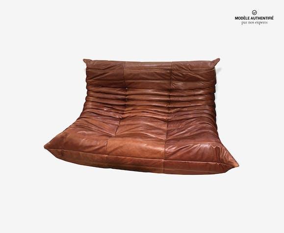 canap 2 places togo ligne roset michel ducaroy cuir. Black Bedroom Furniture Sets. Home Design Ideas