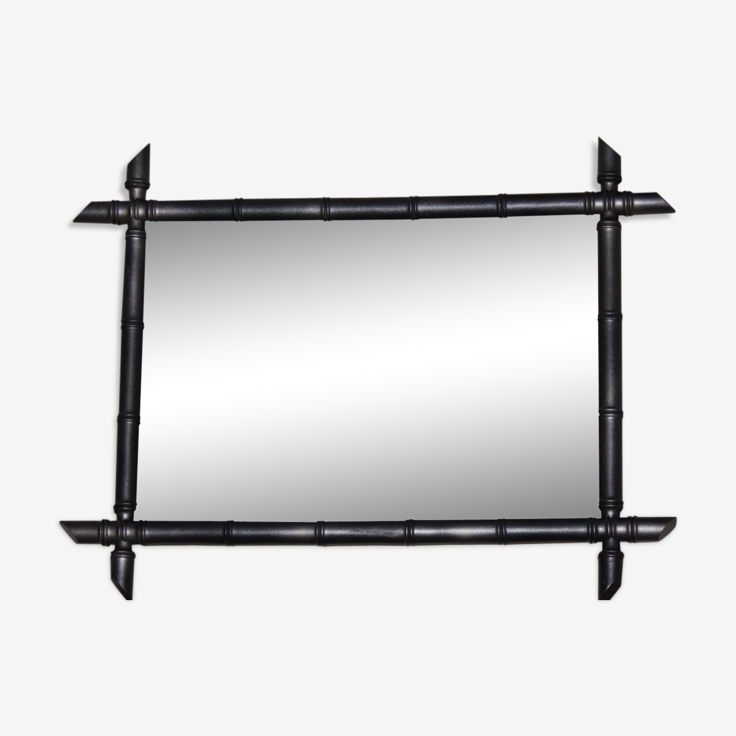 Former mirror wooden way bamboo 86 x 66 cm