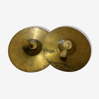 Pair of brass cymbals