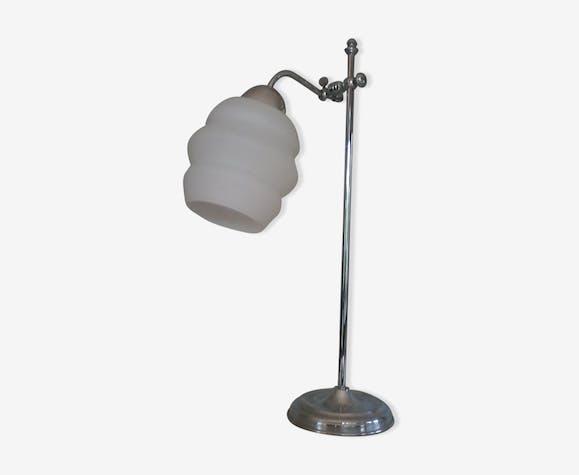 Lampe Bureau Art Deco Annees 30 Metal Blanc Art Deco Afxicbe