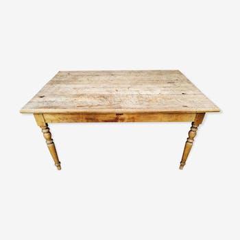 Table de salle à manger en bois ancienne