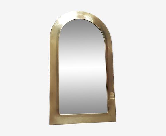 Miroir laiton doré 31x53cm