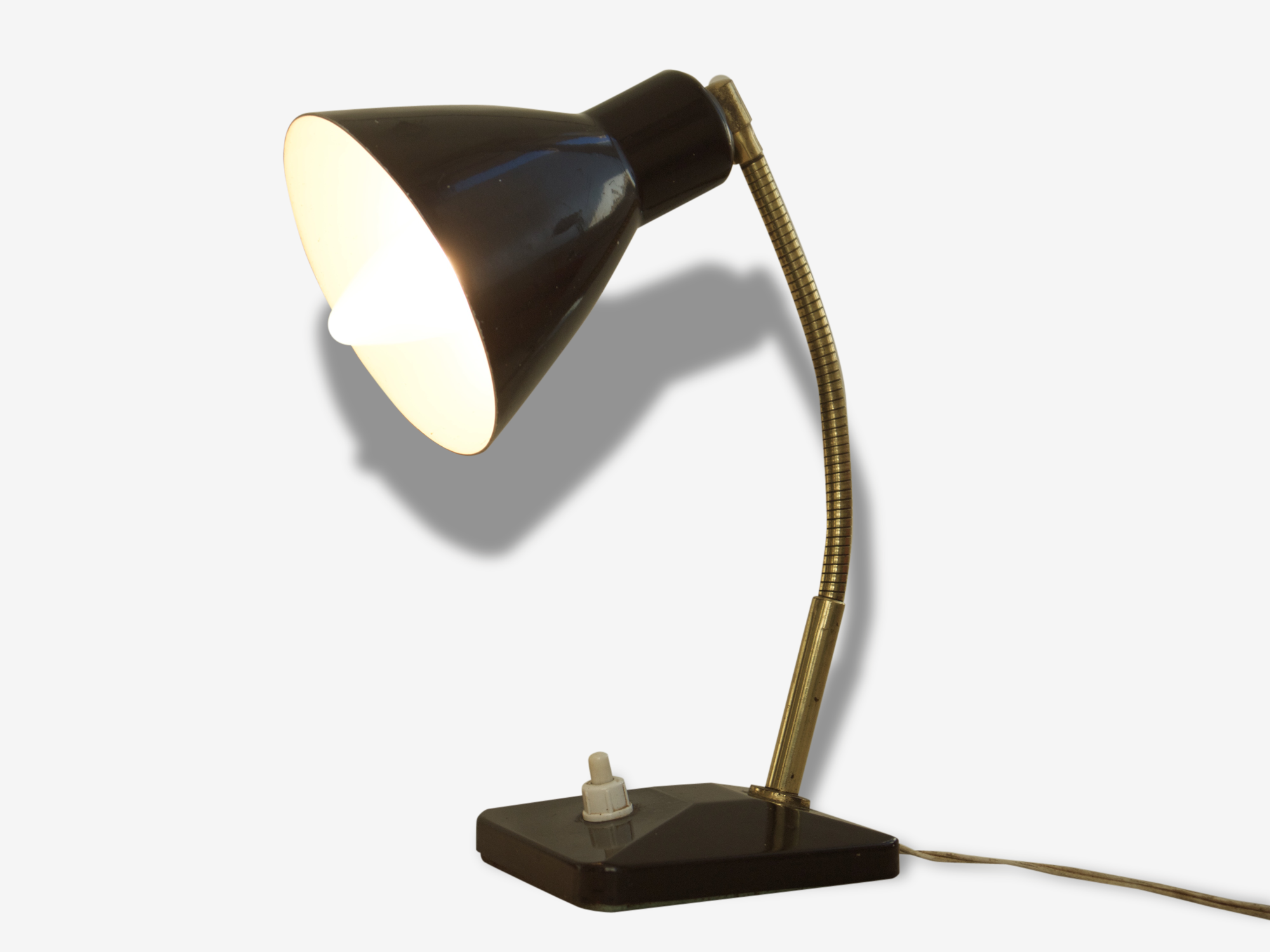 Lampe De Chevet Applique Flexible Vintage Fabrication Aluminor
