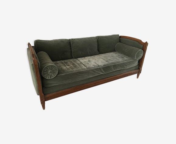 Canapé ancien velours