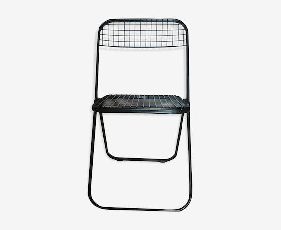 Swell Talin Folding Chair Metal Black Vintage Vds8Yaru Gamerscity Chair Design For Home Gamerscityorg