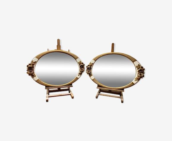 Pair Of Art Deco Style Mirrors 64x43cm Selency