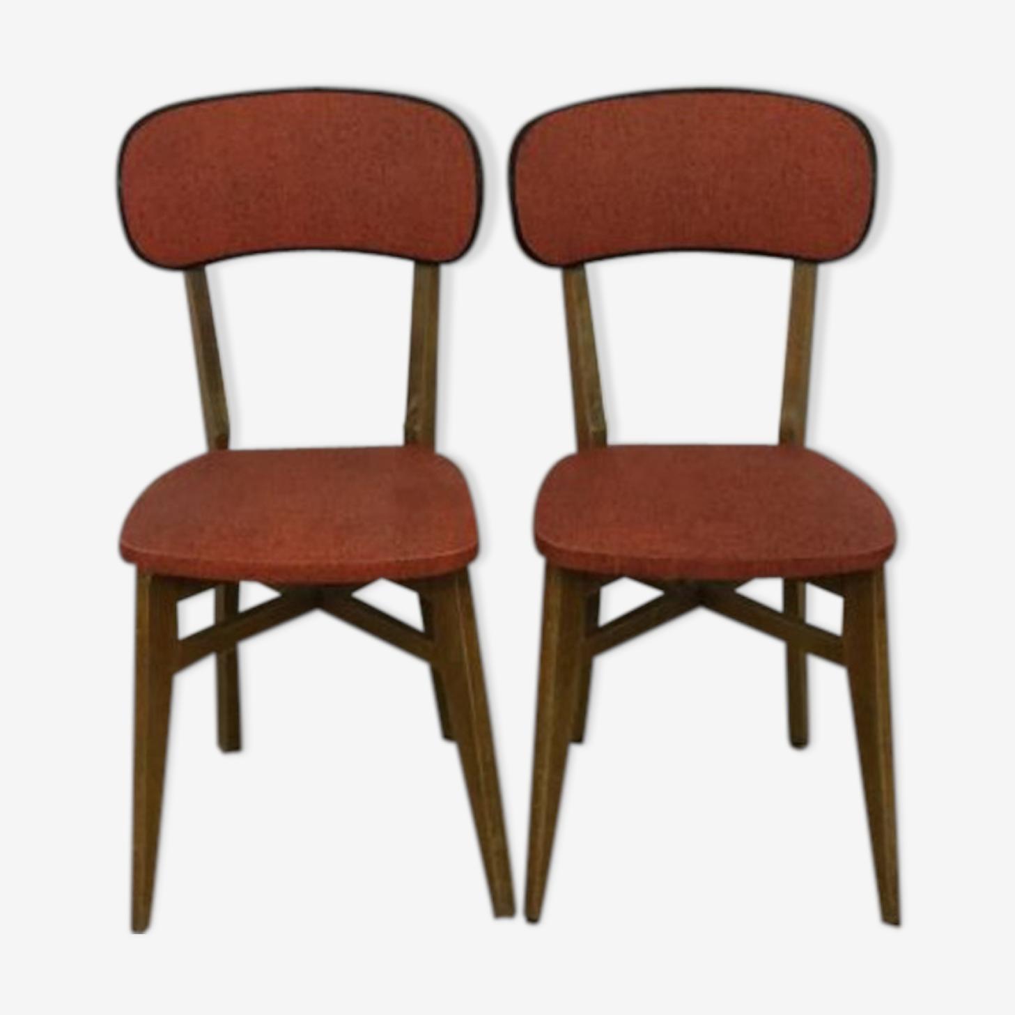 Paire de chaises vinyle rockabilly