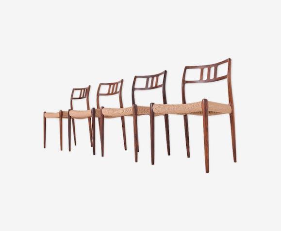 Set de 4 chaises Niels Otto Moller modèle 79 en palissandre de Riop