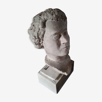 Head in plaster on rectangular base XX