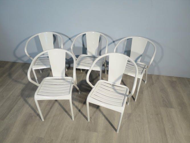 5 FT5 Tolix armchairs