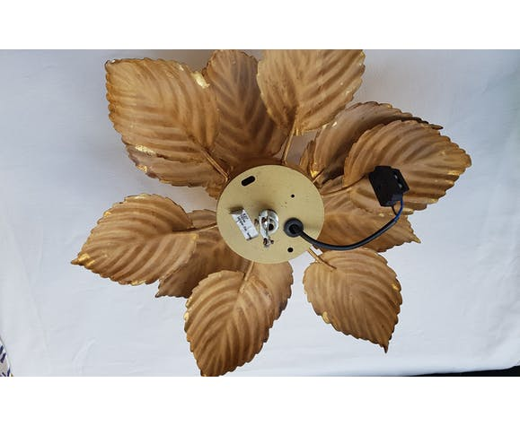 Applique fleur métal doré
