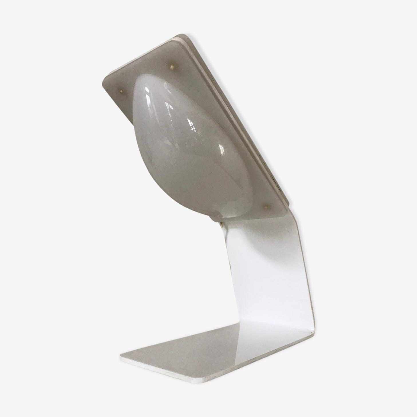 Design Lamp Harvey Guzzini 1970 Plastic White Vintage Runaeln