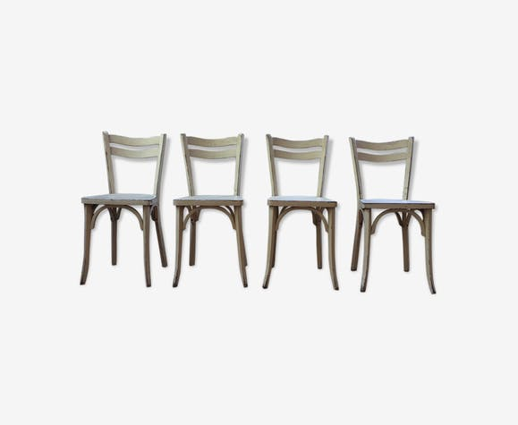 Set de 4 chaises Baumann blanches