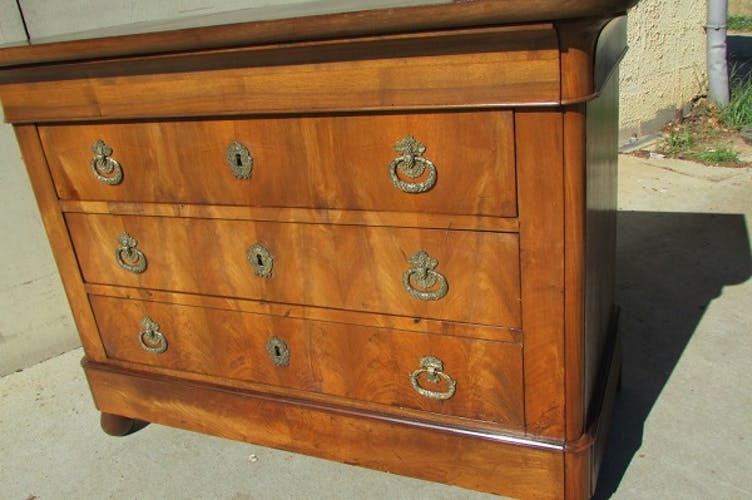 Chest of drawers time Louis Philippe mahogany