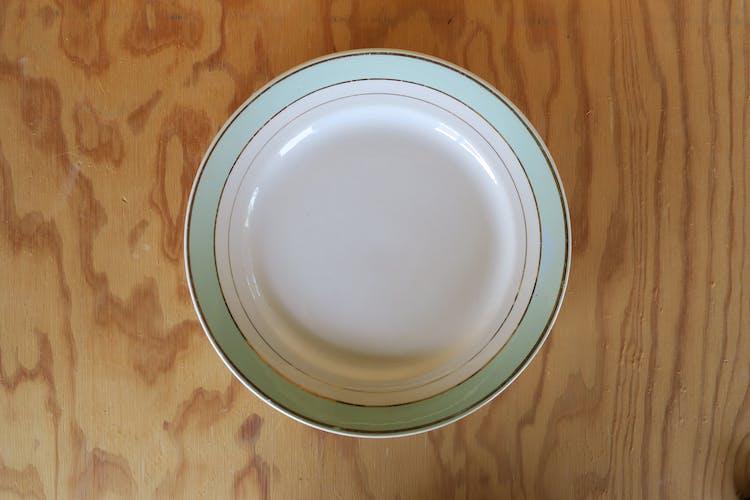 3 assiettes creuses vintage Luneville