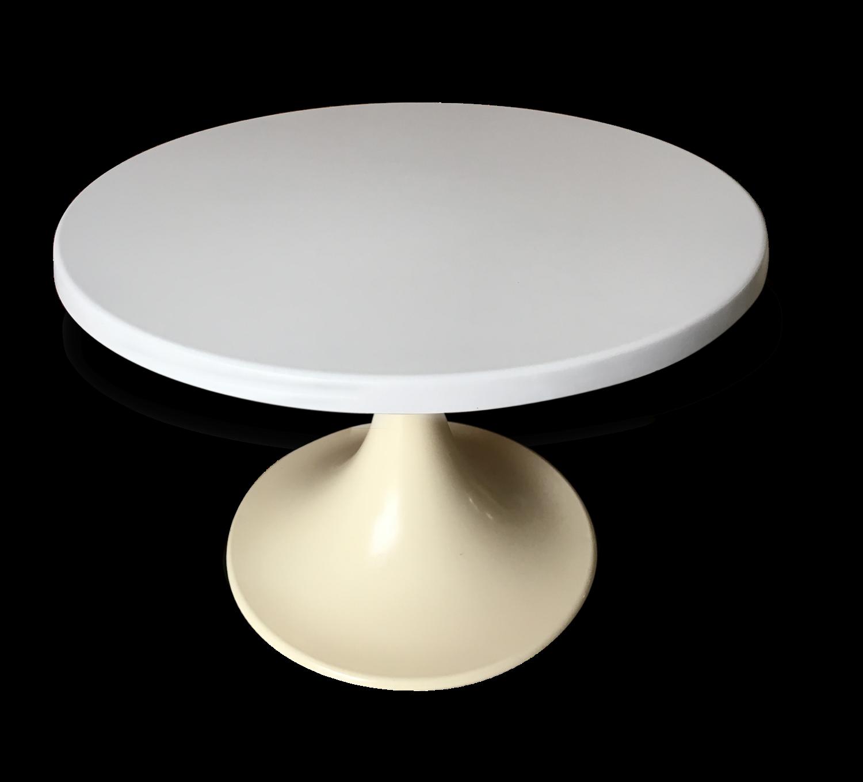 table-basse-pied-tulipe-blanche_original Incroyable De Table Basse Ronde Avec Rangement Des Idées