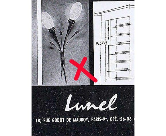 Applique Lunel laiton et opaline 1950/1960
