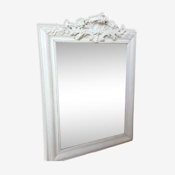Sculpted white mirror
