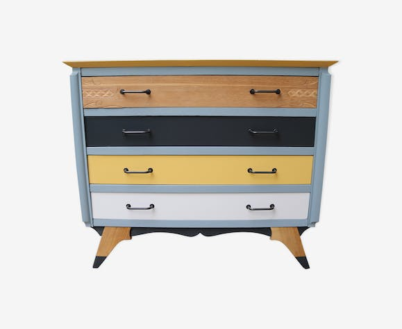 Commode type scandinave sunshine pied compas
