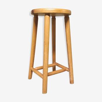 Light wood stool height 57cm