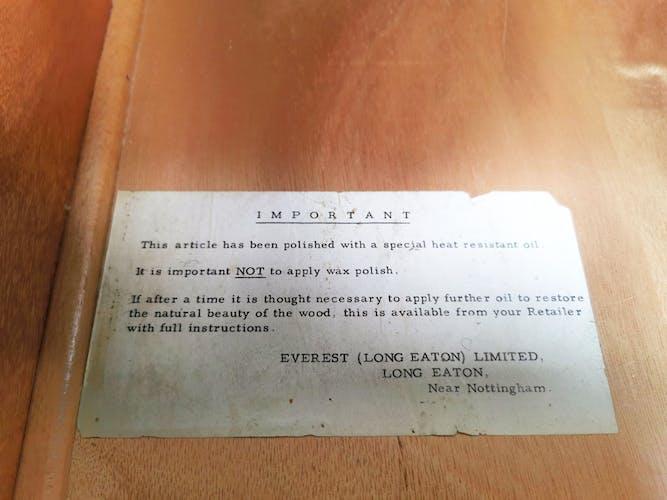 Everest for Heals British long john teak and maple sideboard mid century