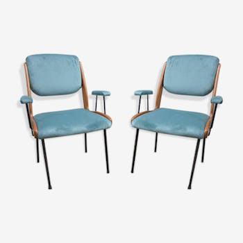 Pair of Club chairs circa 1960 Italian