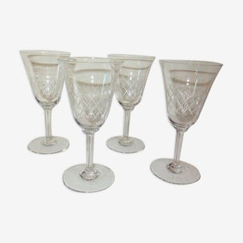 Suite of 4 water glasses
