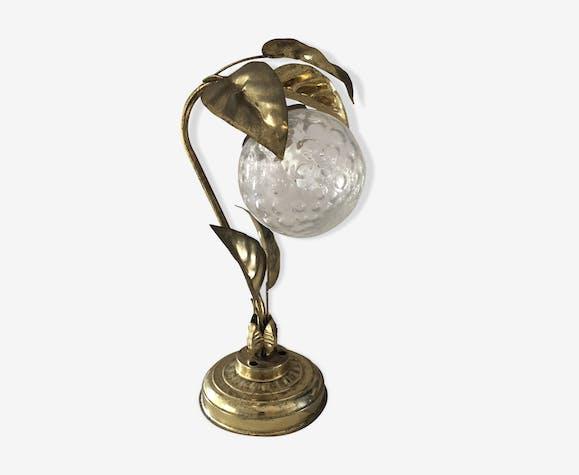 Lampe Doré Déco A85f446d Vintage Laiton Art Feuille PlOZiwkXTu