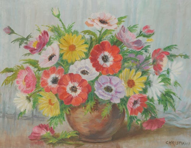 Oil on canvas Bouquet of flowers