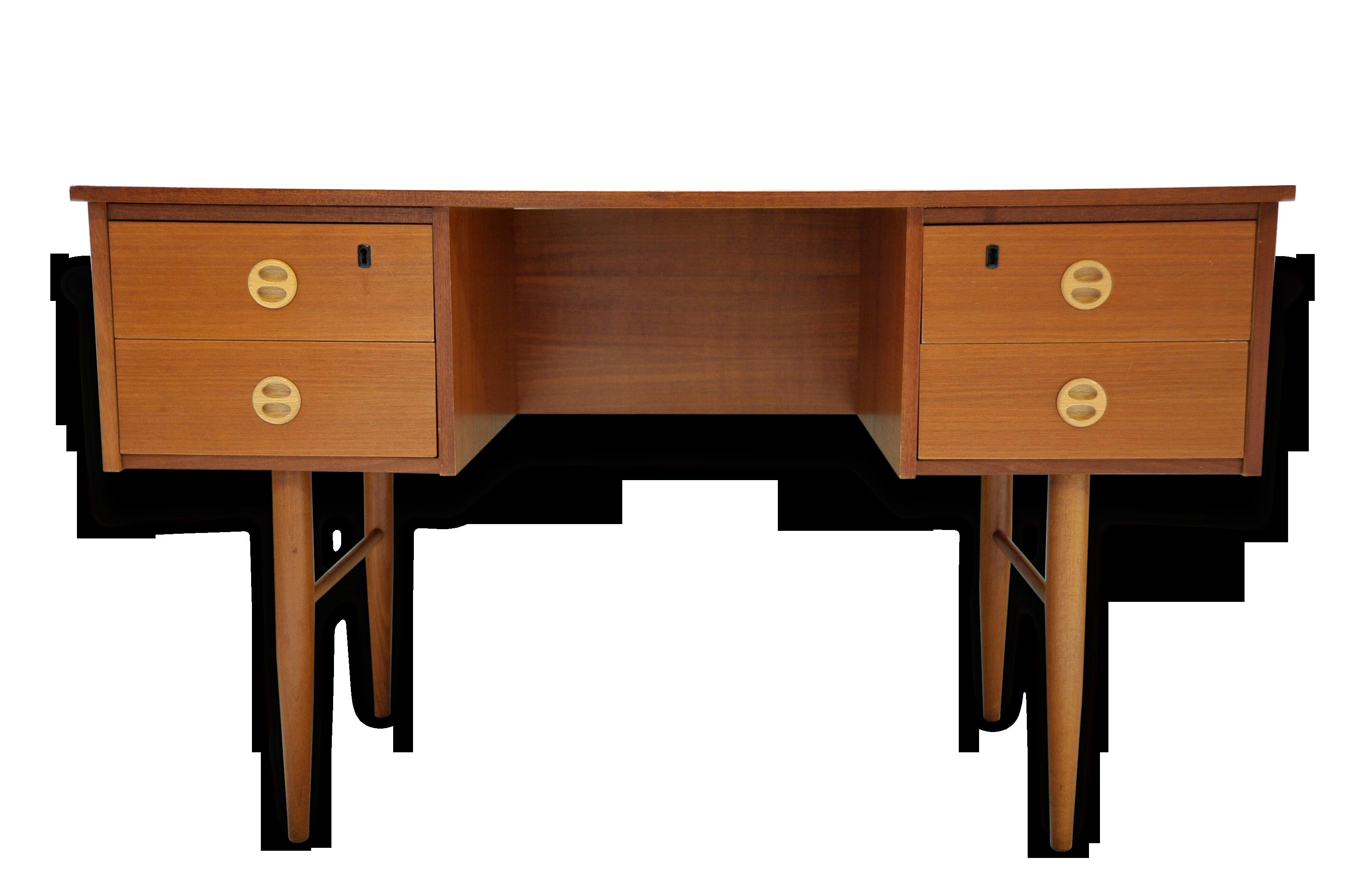 Bureau allemand des années style scandinave bois matériau