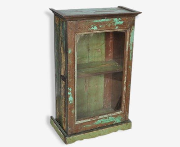 Ancienne armoirette de salle de bain murale en tek birman ...