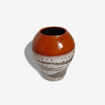 Lovely large orange vase and lava - Vintage - 70's
